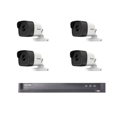 4 bulletcamera's + DVR + schijf