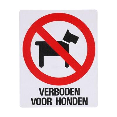 Bord Z154 Verboden Voor Honden