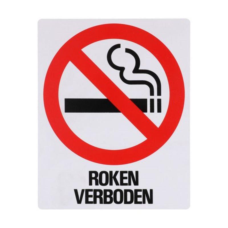Bord Z156 Roken Verboden