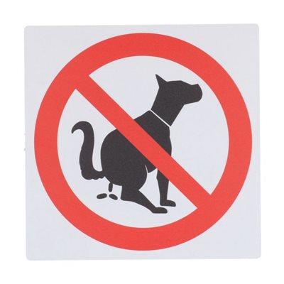 Bord Z163 Verboden Honden Uitlaten