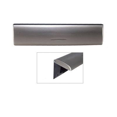 Doorline tochtborstel met binnenklep RVS