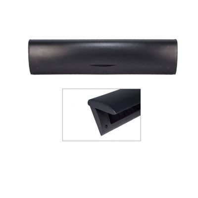 Doorline tochtborstel met binnenklep zwart